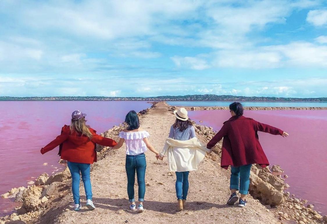 Selfies at Pink Lake